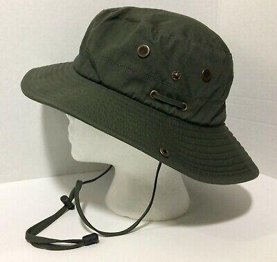 Henschel Hat Co Green Khaki Adult L Wide Brim Safari Sun Hat