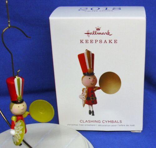 Hallmark Limited Ornament Clashing Cymbals 2018 Toy Soldier Marching Band NIB