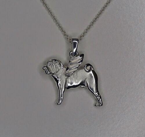 Sterling Silver Shar Pei Angel Pendant