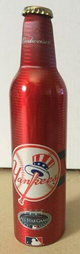 2008 MLB New York YANKEES ALL STAR Budweiser 16 oz Aluminum Beer Bottle & Cap