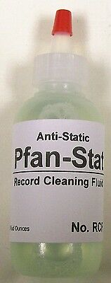 TWO BOTTLES OF RECORD CLEANING FLUID - ANTI-STATIC -USE ON ALL CLEANING DEVICES