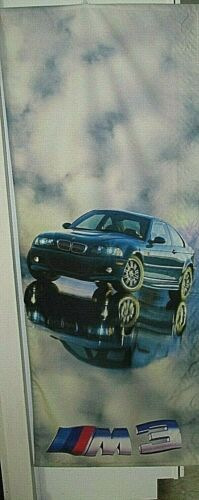 "BMW M3 E46 Genuine Dealership Showroom Advertising Vertical Banner 70"" X 28"" NEW"