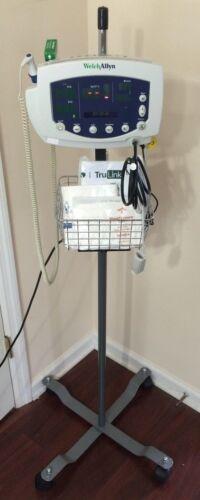 Welch Allyn 300 Series 53XXX Vital Signs Monitor NIBP SpO2 Temp IV Stand