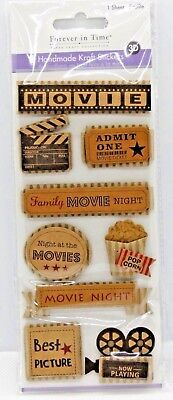Movie Family Movie Night Best Picture Film Camera 3D Stickers