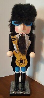 Rocker Nutcracker Rock N Roll Guitar Wooden 15