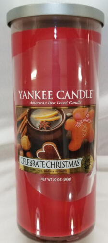 Yankee Candle CELEBRATE CHRISTMAS Large Perfect Pillar Red 1
