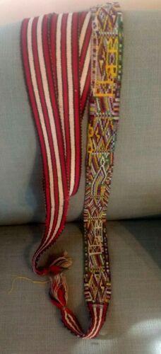 Vintage Guatemalan (Nebaj) faja/sash featuring quetzal pattern