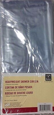 HOMZ CLEAR VINYL HEAVY WEIGHT SHOWER CURTAIN LINER