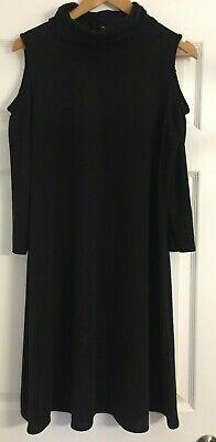 Winter Weekend Dresses (PAPAYA WEEKEND BLACK ROLL NECK WINTER JERSEY DRESS, LONG SLEEVE, SIZE 16,)