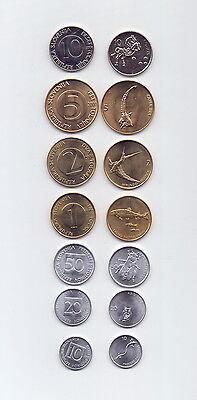 Slowenien / SLOVENIA - KMS/Satz von 7 Münzen 1993-2006 UNC