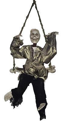 EUROPALMS Halloween Todesschaukler 45x10x91cm mit Sound-, Licht- u. Bewegung