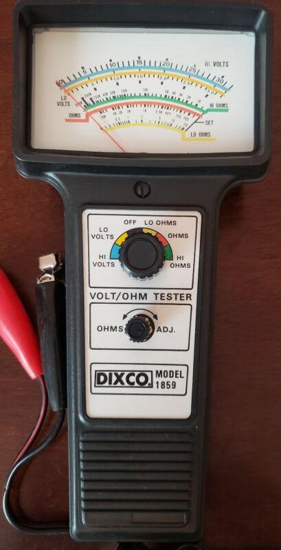 DIXCO MODEL 1859 VOLT/OHM TESTER
