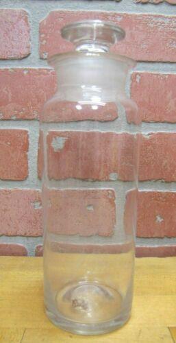 Antique Hand Blown Apothecary Medicine Jar Bottle Drug Store Ground Lip