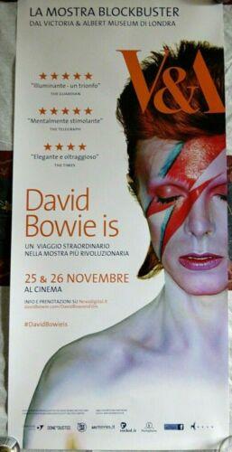 "DAVID BOWIE IS HAPPENING NOW 2013 ITALIAN ""LOCANDINA"" ADVANCE MOVIE POSTER RARE!"