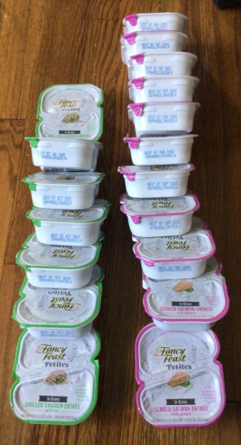 36 Servings Variety Fancy Feast Salmon And Chicken In Gravy Earliest Exp 7/22 - $30.00