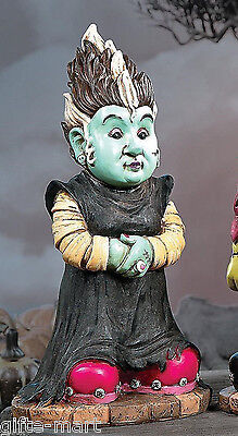 gross scary Zombie Frankenstein BRIDE GIRL Gnome skull prop yard Statue decor