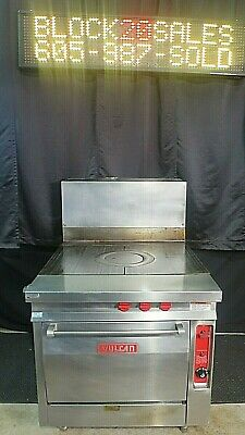 Natural Gas Oven Range Gh30 Vulcan Heavy Duty French Top