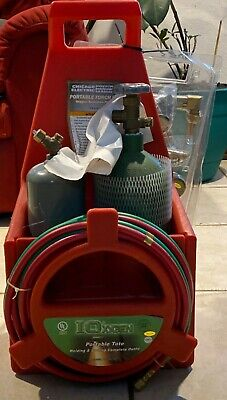 Chicago Electric Welding System Portable Torch Kit Oxygen Acetylene Tanks