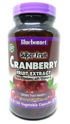 BlueBonnet Super Fruit Cranberry Supplement   120 Veg Capsules   Best By