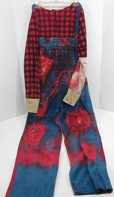 Underboss one piece pajamas bloody farmer zombie walking dead size m hooded mask