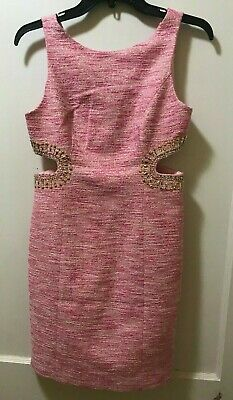 NEW LILLY PULITZER WOMEN'S CATIE SHIFT DRESS PINK TROPICS RESORT BOUCLE - Boucle Dress