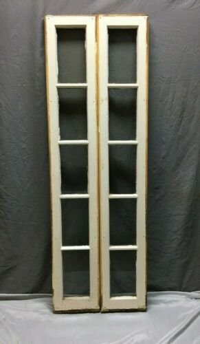 Pair Vintage 5 Lite Entryway Window Sidelight Sash Transom 10x60 VTG 27-20B