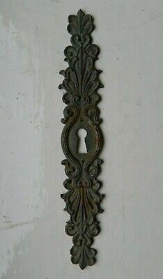Antique Reclaimed French Brass Keyhole Escutcheon Plate