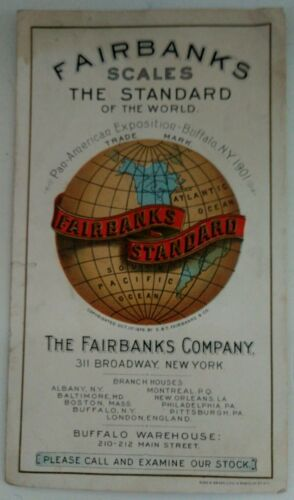 1901 Pan American Exposition Buffalo NY Fairbanks Scales Ad Booklet