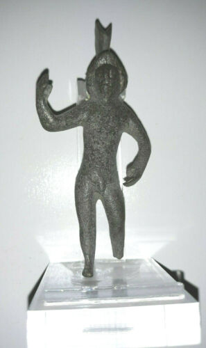 Roman Bronze Statuette of Mars (c. 100 - 400 AD) w/ Custom Stand