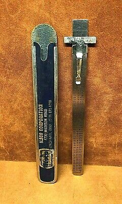 Vtg Executive Stainless Steel 6 Ruler Metric Equivalents Depth Gauge Ilsco Corp