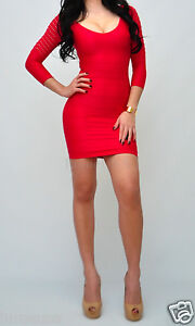bebe Dress P/S XXS XS S Raspberry Red Pink Fishnet Sleeve Shine Bodycon Lace Hot
