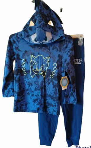 Sonic The Hedgehog Face Hoodie Jogger Outfit-6-Blues