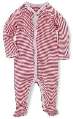 BNWT Ralph Lauren Polo Baby Girls Footed Romper Coverall Babygrow 6M RRP £59