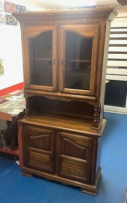 Antique Sideboard with Glass Display Cupboard / Cabinet and Lower Cupboard