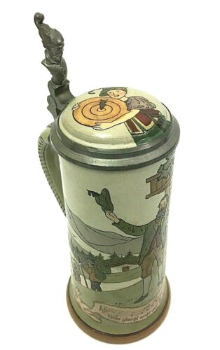 "Beer Stein Marzi And Remy # 1614 ""The Hunter"" Germany Oktoberfest Collectible"