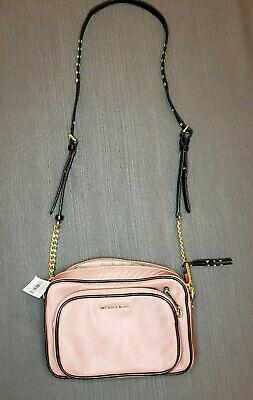 Michael Kors Leila Nylon Large Camera Bag Rose Pink and Gold NWT