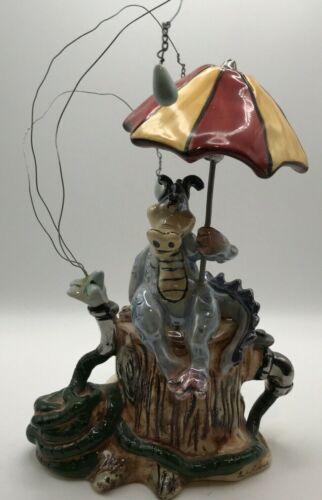 2004 Blue Sky Dragon Rain & Umbrella Candle Tealight Holder