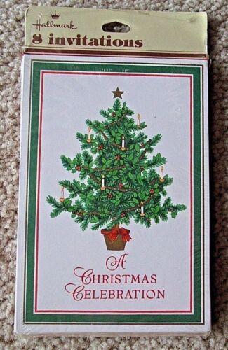 Vintage New Hallmark Christmas Party Invitations New In Pkg 8 Christmas Tree NIP