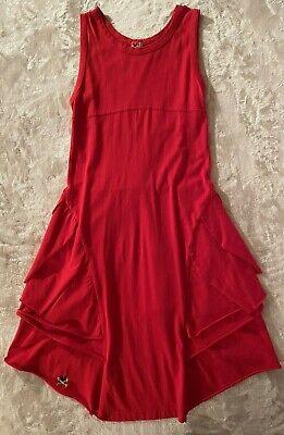 No Added Sugar Girls Red Bustle Knit Sundress Dress Size 11-12