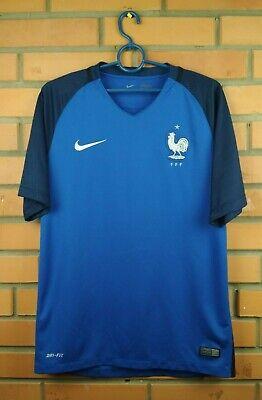 0a3915720 France soocer jersey medium 2016 2017 home shirt 724615-439 football Nike