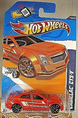 2012 Hot Wheels #100 Faster Than Ever 10/10 CADILLAC CTS-V Orange w/Gold FTE2 Sp