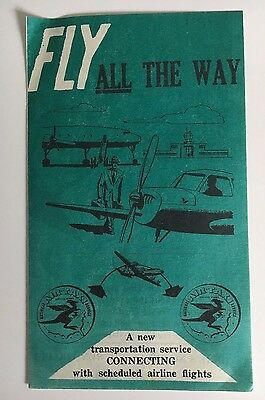 Vintage Circa 1950S National Air Taxi Service Advertisement Brochure