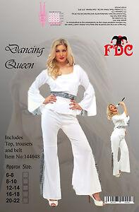 Dancing Queen 70S Seventies Style Pop Fancy Dress Costume Size 20-22