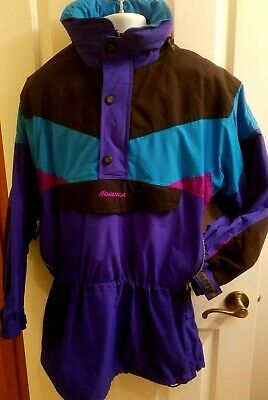 NORDICA Sportsystem Ski Snowboard Pullover Jacket Coat Blue, Purple, Hood L
