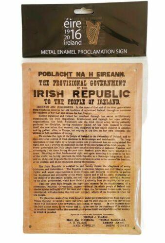 IRISH REPUBLIC 1916 PROCLAMATION OF INDEPENDENCE REPLICA METAL SIGN EIRE IRELAND