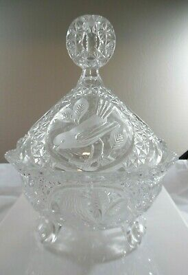 3-Footed Candy Dish with Lid The Byrdes Collection Hofbauer 3 Footed Candy