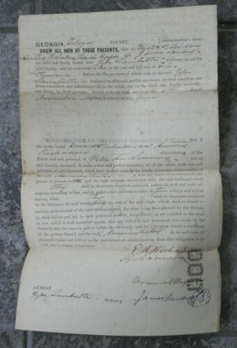 Antique 1854 Administrator