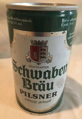 Vintage Stuttgarter Schwaben Brau Pilsner West German Beer Can Bottom Opened!WOW