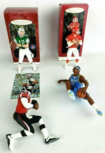 Hallmark Sports Related Christmas Ornaments-Montana-Namath-Vick-Anthony