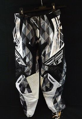 8bbe65442a9 NEW FLY RACING Kinetic Motocross BMX Riding Pants Black   Gray Men s Size 28